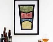 "Beer Poster - Detailed ""Know what you drink"" Beer Art"
