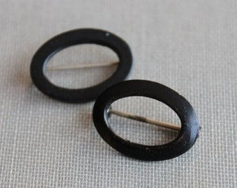 Pair of Antique Victorian Mourning Scatter Pins