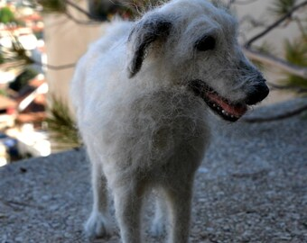 Needle felted dog - Custom dog - Dog portrait - Custom portrait of your pet - Felt dog - Dogs