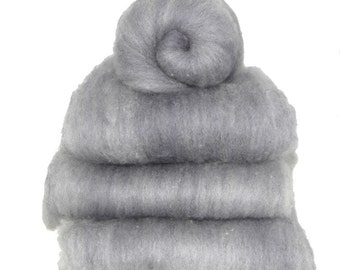Shetland Blue Grey Heather Spinning Batts - 5 ounces
