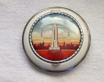 Empire State Building Souvenir Compact Enamel