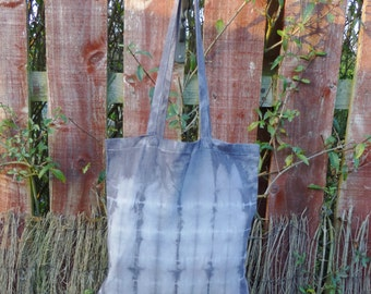 Summer Sea Canvas Tote Shopper Bag - Naturally Dyed - Womens Organic Summer Accessory - Ready to Ship