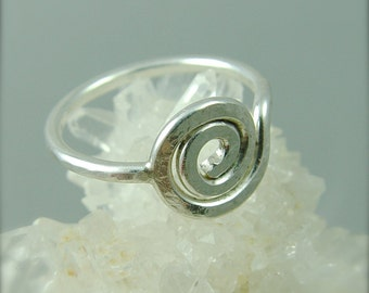 Sacred Spiral Ring / Sterling Silver Ring
