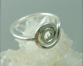 Sacred Spiral Ring / Celtic Ring / Sterling Silver Ring / Celtic Ring Women
