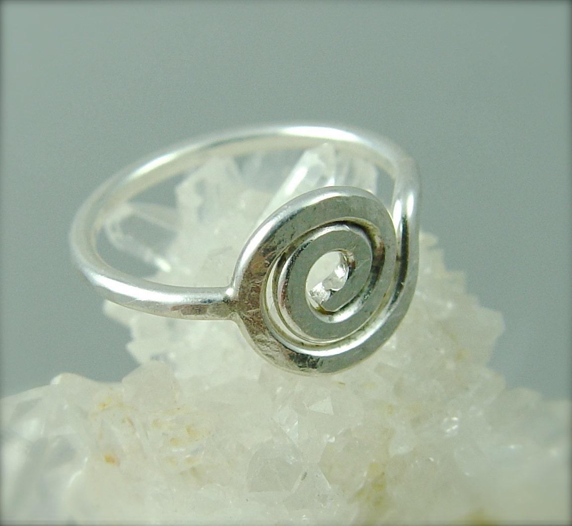 sacred spiral ring celtic ring sterling silver ring