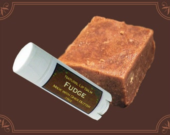 FUDGE Lip Balm made with Shea Butter - .15oz Oval Tube