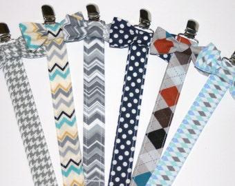 Bow Tie Binky Pacifier Clip