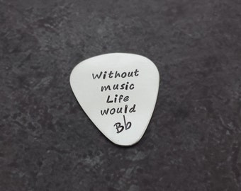 Sterling Silver Guitar Pick - Personalized Guitar Pick - Fathers Day - Gifts for Dad