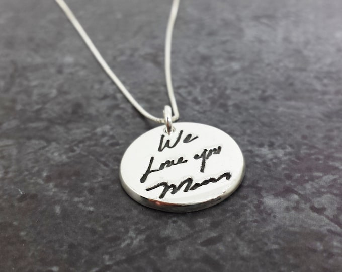 Featured listing image: Custom Handwriting Necklace - Sterling Silver Signature Jewelry - Personalized Gift - Mother's Day Gifts - Custom Writing Jewelry