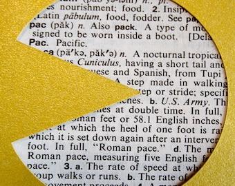 Pacman - Custom Cut Bookmark