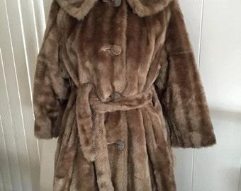 Sale Gorgeous Vintage Faux Mink -- FINK -- Coat -- Size XL -- Glamorous