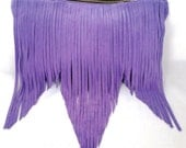 Fringe Bag in Lilac Suede