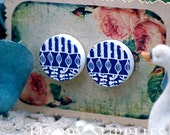 Buy 1 Get 1 Free - 20pcs 15mm (WC47) Round Handmade Photo Wood Cut Cabochon (Back White)