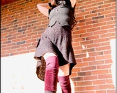 Thigh High Leg Warmers - Clothing Accessory - Steampunk - Playa Wear - Tall Socks - Sexy Leggings - Patchwork - Hippie Leggings - One Size