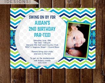 Golf Party Birthday Invitation - Kids Golf Party - Boy's Birthday Party Invitation - Golf Party Invitation - Golf Par-tee Invitation