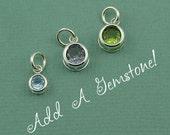 Add A Gemstone - birthstone necklace - garnet - amethyst - aquamarine - emerald - ruby - peridot - sapphire - tourmaline - topaz - zircon