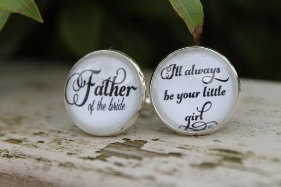 Wedding Cufflinks, Father of the Bride, Cuff Links