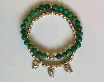 Turquoise Boho Stacking Bracelet Set Southwestern Boho Beach Style Bracelet Jewelry Unisex Bracelet Bohemian Jewelry