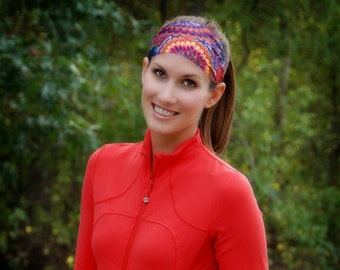 Fit Chic non slip Headband bolder colors and comfortable fit sweat control and machine washable sports headband fitness fun