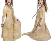 Sunheart bohemian Hippie RESORT Wear EVE Peekaboo Icon Light Batik DRESS One Size fits Sml-Med-Large-xl-1x