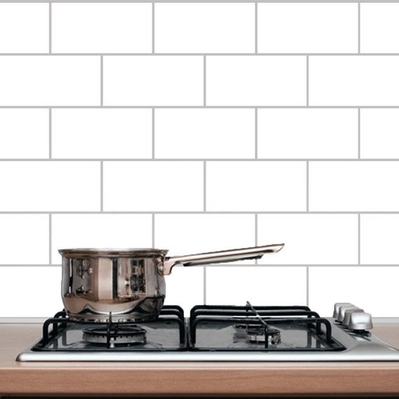 Subway tile kitchen and bathroom wall decals for Kitchen tile decals