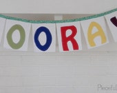 Hooray!  Today's a big Day!  fabric banner, celebration