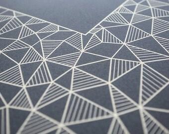 Ketubah Giclée Print by Jennifer Raichman - Geometric