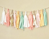 Tassel Garland / Pink and Gold First Birthday / Pink and Mint Baby Shower / Bunting Garland / Girl First Birthday Decorations / Girl Nursery