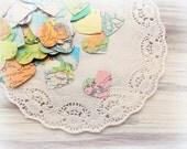 Vintage Atlas Heart Confetti  / 500 Pieces / Wedding Decor / Table Confetti / Party Confetti