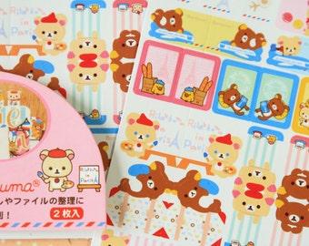Pink Rilakkuma Index Tab Label Stickers