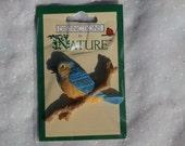 Bluebird Craft Piece, Flat Back Embellishment, Bird Figure for Crafting