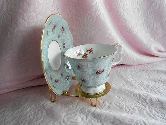 Vintage Metal Teacup Stand Plate Holder Tea By