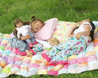 Matching Girl & Doll Clothes. American Girl Matching Pajama Pant Set for Girl + Doll.Summer pajamas.Sizes 2T-12. Zebra print