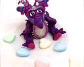 Polymer Clay LOVE Wish Dragon 'Canoodle' - Limited Edition Handmade Collectible