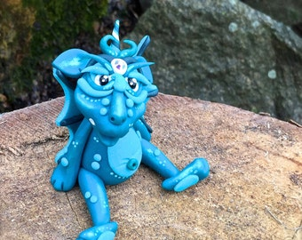 Polymer Clay Dragon 'Teak' - Limited Edition Handmade Collectible