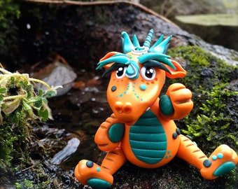 Polymer Clay Dragon 'Julius' - Limited Edition Handmade Collectible