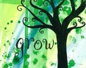 Grow 3.5x5 Art Print