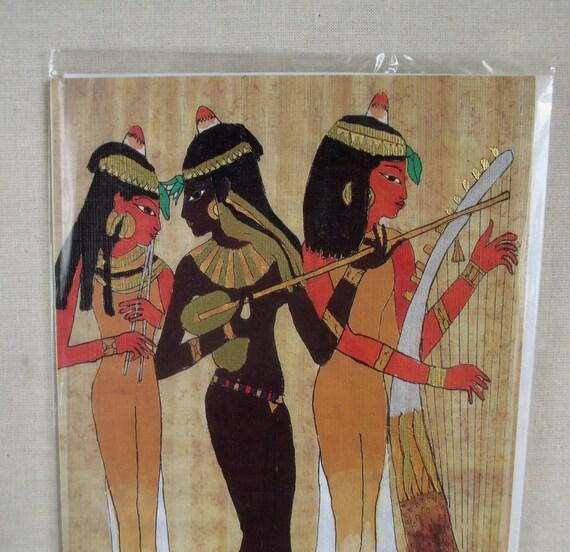 Ancient Egyptian Nubian Women 1980s Birthday Card Music – Egyptian Birthday Cards