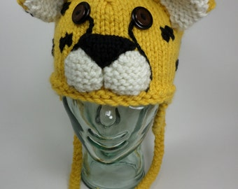 Cheetah Earflap Hat