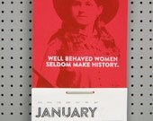 2015 Calendar: Annie Oakley - screenprint
