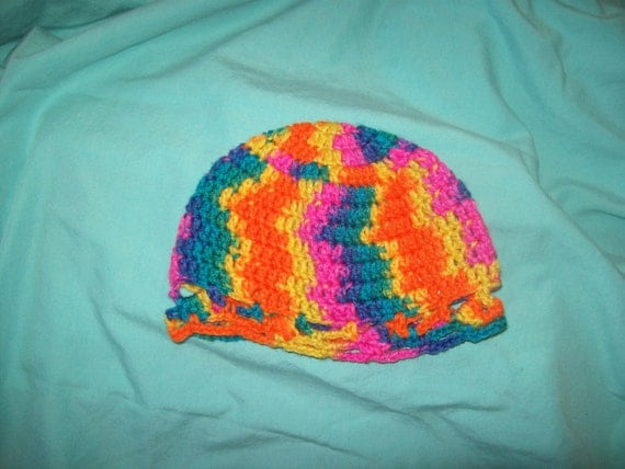 CLEARANCE Toddler's Hat Multi- Colored  Crochet Hat Size 18 months