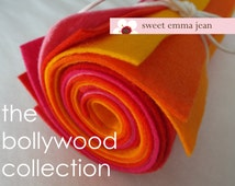 9x12 Wool Felt Sheets - The Bollywood Collection - 8 Sheets of Felt