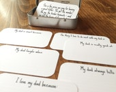 Dad Gift Set - Quote Pack and Questions - Quote Cards - Mini Cards  - Questions for Kids - 2 x 3.5