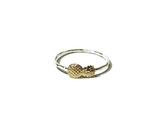 pineapple ring sterling silver and gold brass pineapple
