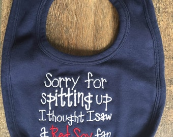 IN STOCK Embroidered baby Bib Red Sox's V. Yankees