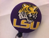 LSU Louisiana State University Tigers Retractable ID Badge Reel