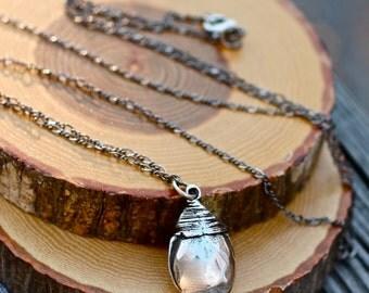 Long Necklace , Silver Necklace , Silver Pendant Necklace ,  Tear Drop Necklace , Briolette Necklace , Chain Necklace , Amy Fine Design