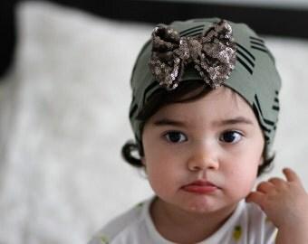 Sequin Bow beanie Baby, Toddler, Child