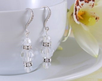Swarovski Crystal Bridal Earrings, bridesmaid earrings, wedding earrings, crystal earrings, clear crystal, Swarovski earrings, Rhinestone