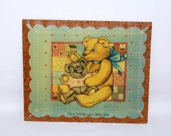 Lithograph Teddy Bear Picture - K Smith Design - Children's Room - Item SL26